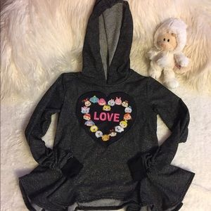 Children's Tsum Tsum love shirt with hoodie
